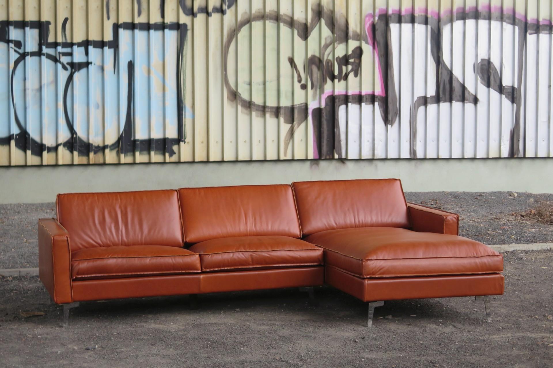 ecksofa echtleder gaucho vintage anilin cognac rechts oder. Black Bedroom Furniture Sets. Home Design Ideas