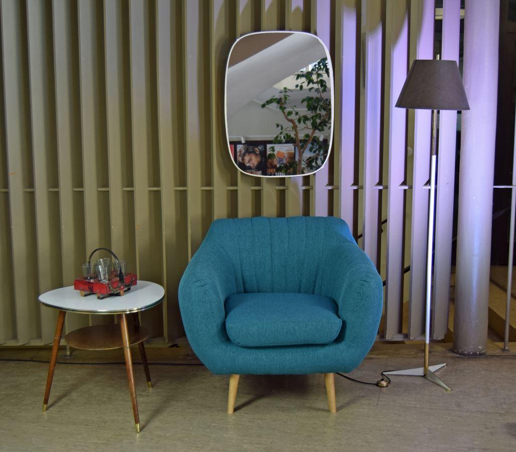 Retro Sessel Azure 1-Sitzer Stoff Petrol – Möbel – Wohnen – Sessel ...