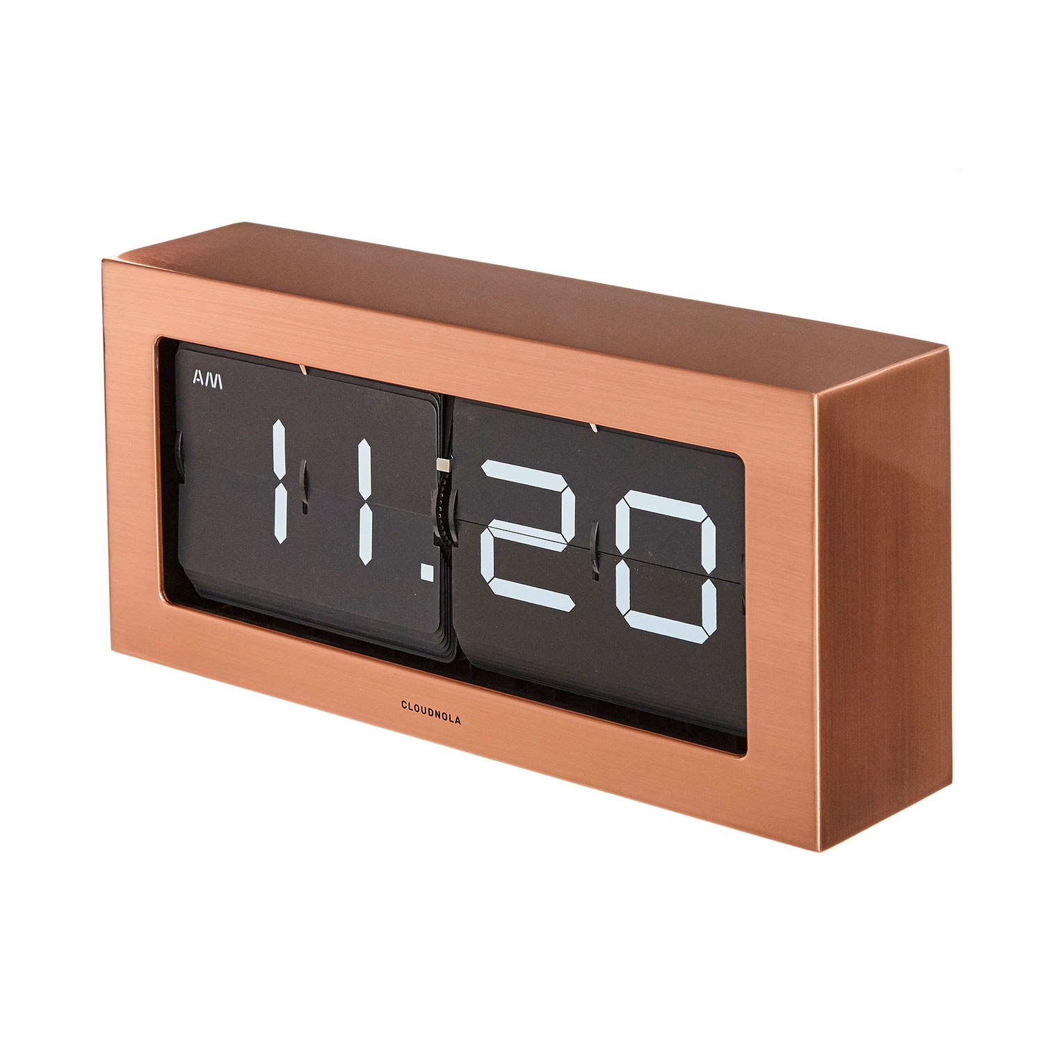 tisch oder wanduhr boss flip kupfer klappzahlenuhr flipclock accessoires uhren wecker. Black Bedroom Furniture Sets. Home Design Ideas