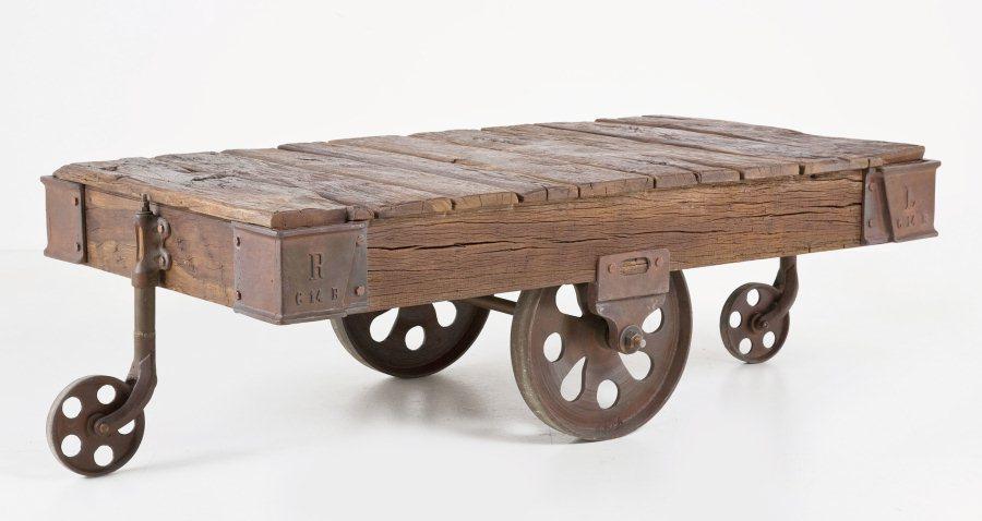 vintage couchtisch railway 135 x 80 teak kare m bel. Black Bedroom Furniture Sets. Home Design Ideas