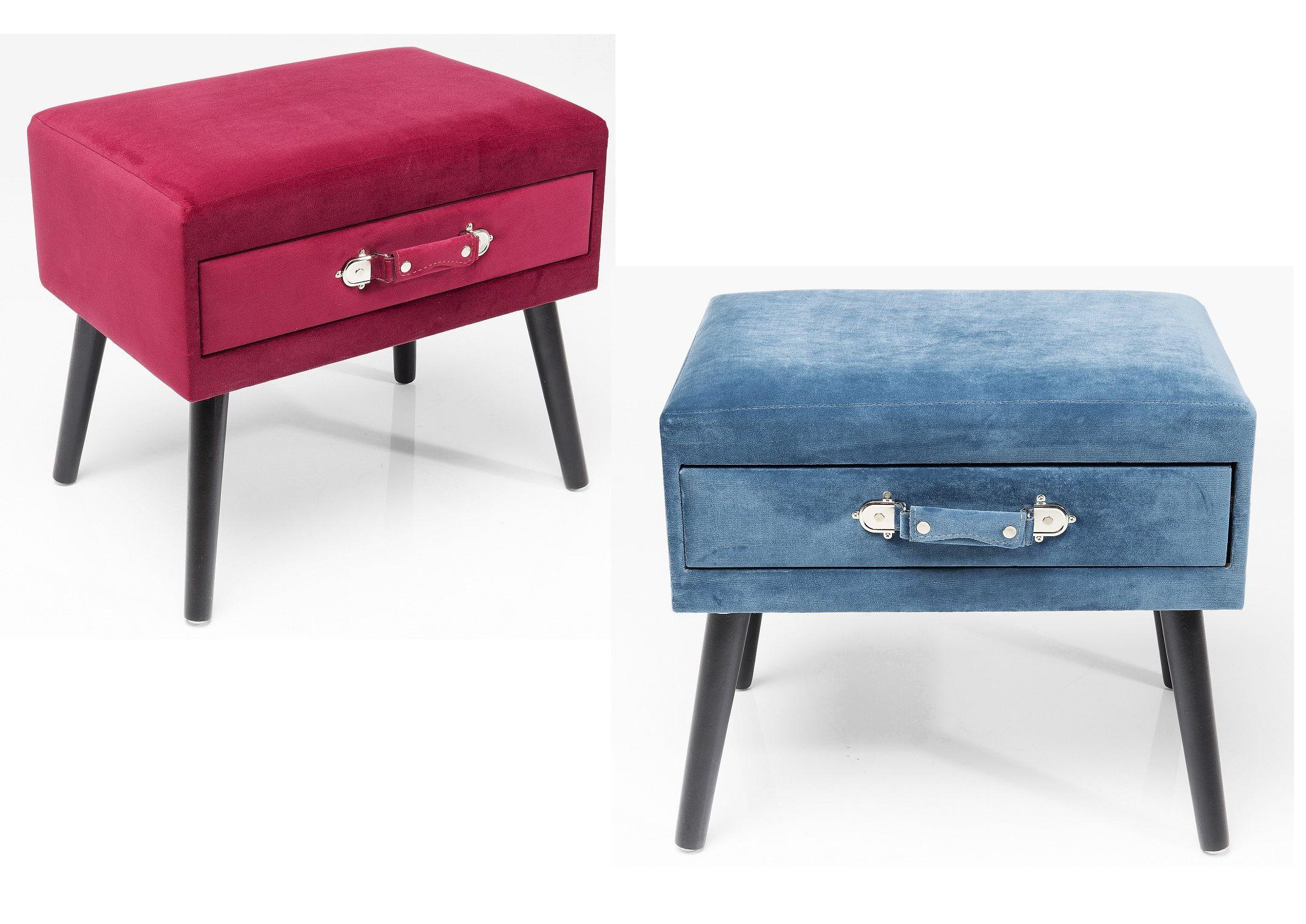 Kare retro hocker mit schublade drawer in zwei farben for Kare lagerverkauf