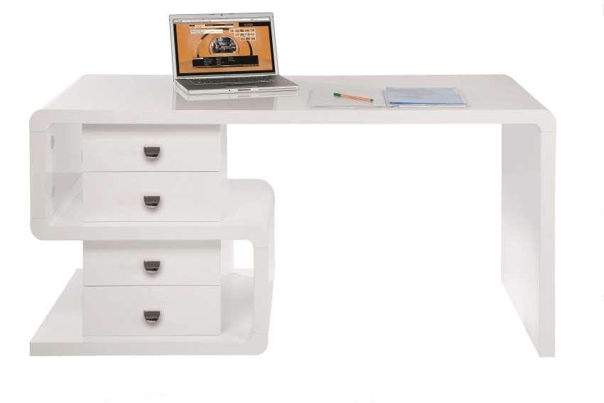 Schreibtisch weiß vintage  KARE Schreibtisch Snake hochglanz weiß 150 White Club – Möbel ...