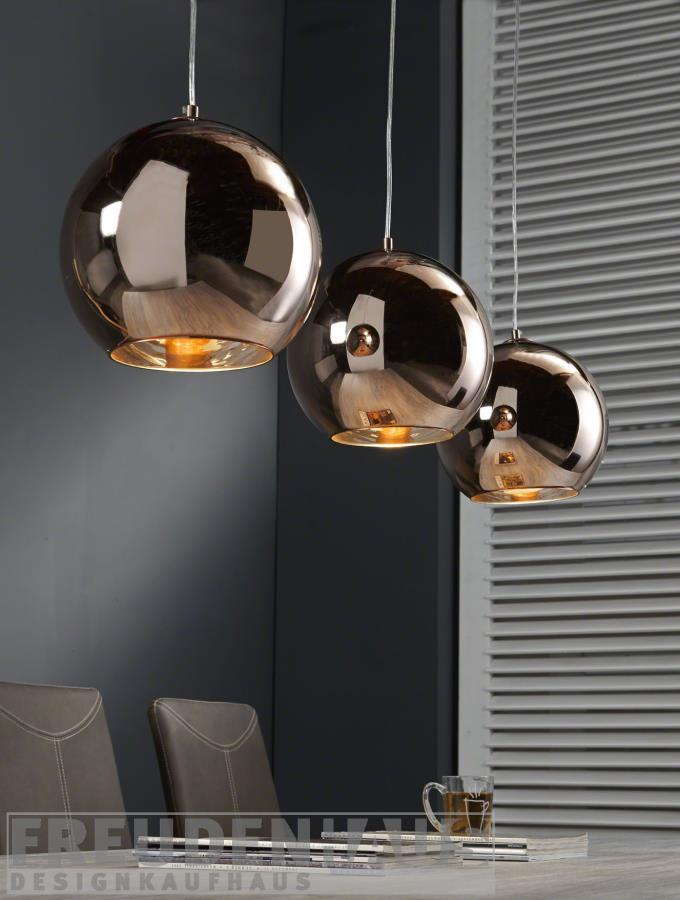 lampe 3 kugeln glas pendelleuchte modern. Black Bedroom Furniture Sets. Home Design Ideas