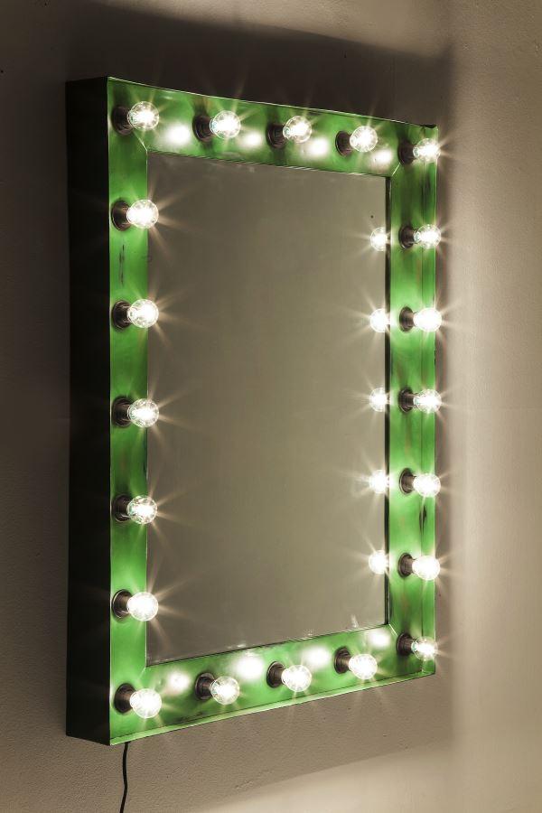 Kare Spiegel Wandlampe Show Mirror Vintage Beleuchtung