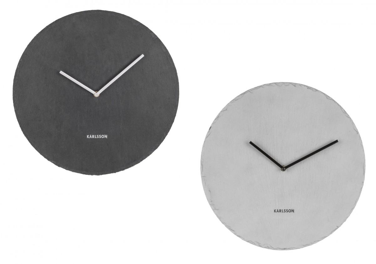 wanduhr slate schieferplatte in schwarz oder grau – accessoires