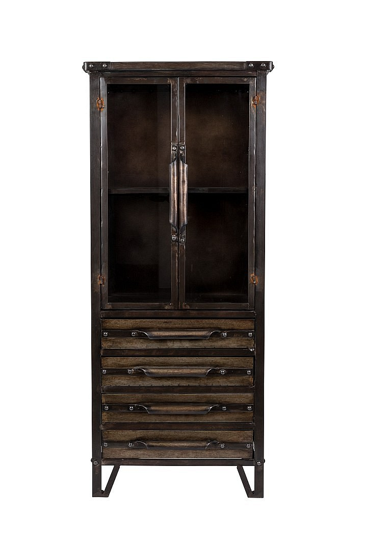 vintage regal iron otis kabinett vitrine m bel wohnen regale freudenhaus designkaufhaus. Black Bedroom Furniture Sets. Home Design Ideas