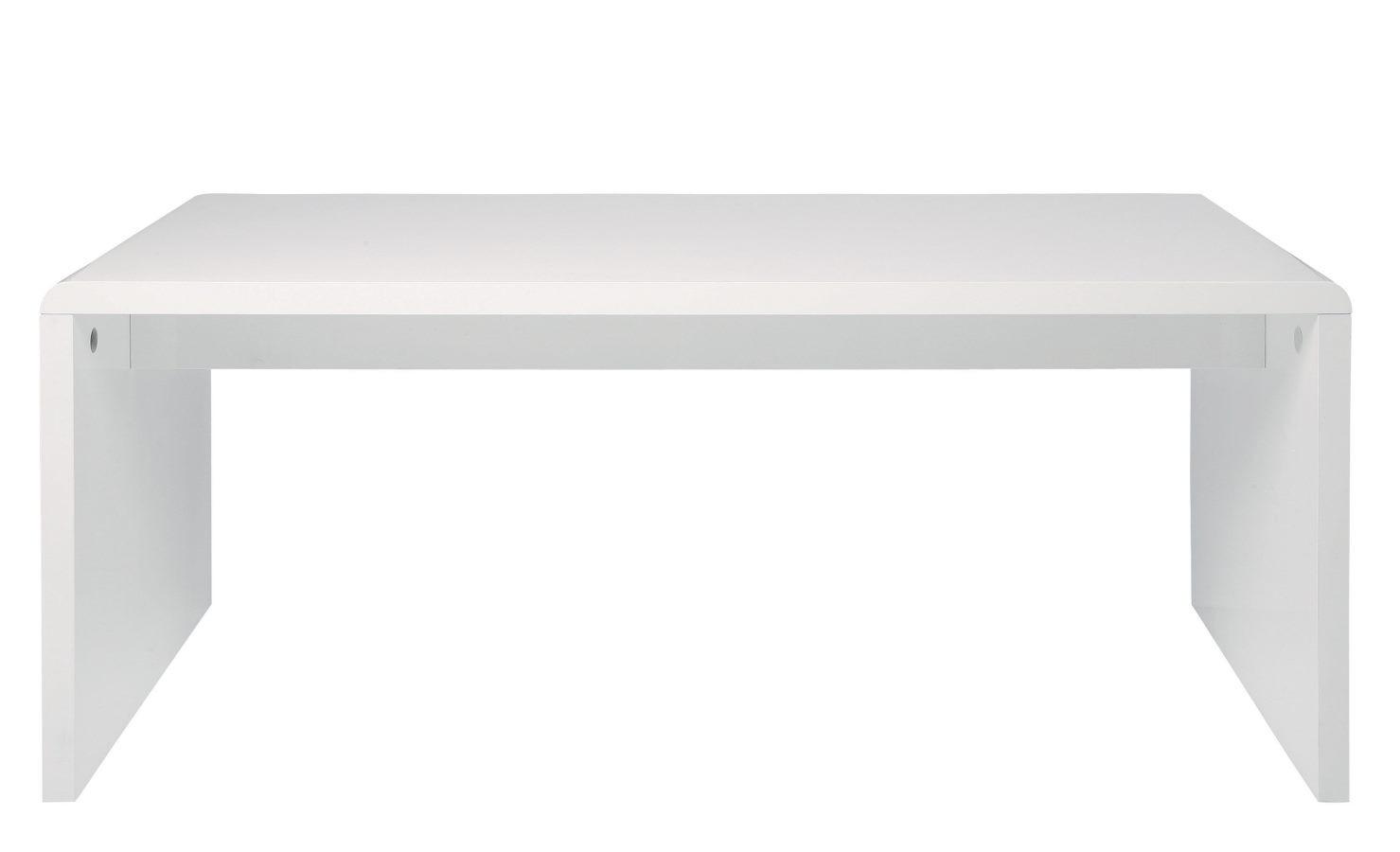 White Club Schreibtisch 180 X 85 Hochglanz Weiß Kare Möbel