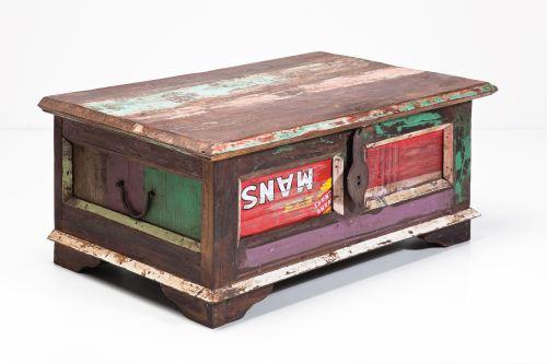 kare truhe old barn klein vintage shabby chic accessoires deko aufbewahrung freudenhaus. Black Bedroom Furniture Sets. Home Design Ideas