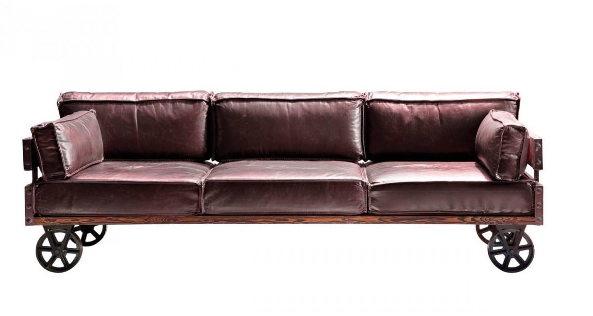 Vintage Sofa Railway Leder 3 Sitzer Von Kare Möbel Wohnen