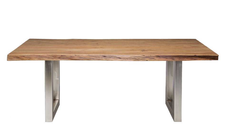 Kare tisch nature line 195 x 110 cm massivholz akazie for Industrial design tisch