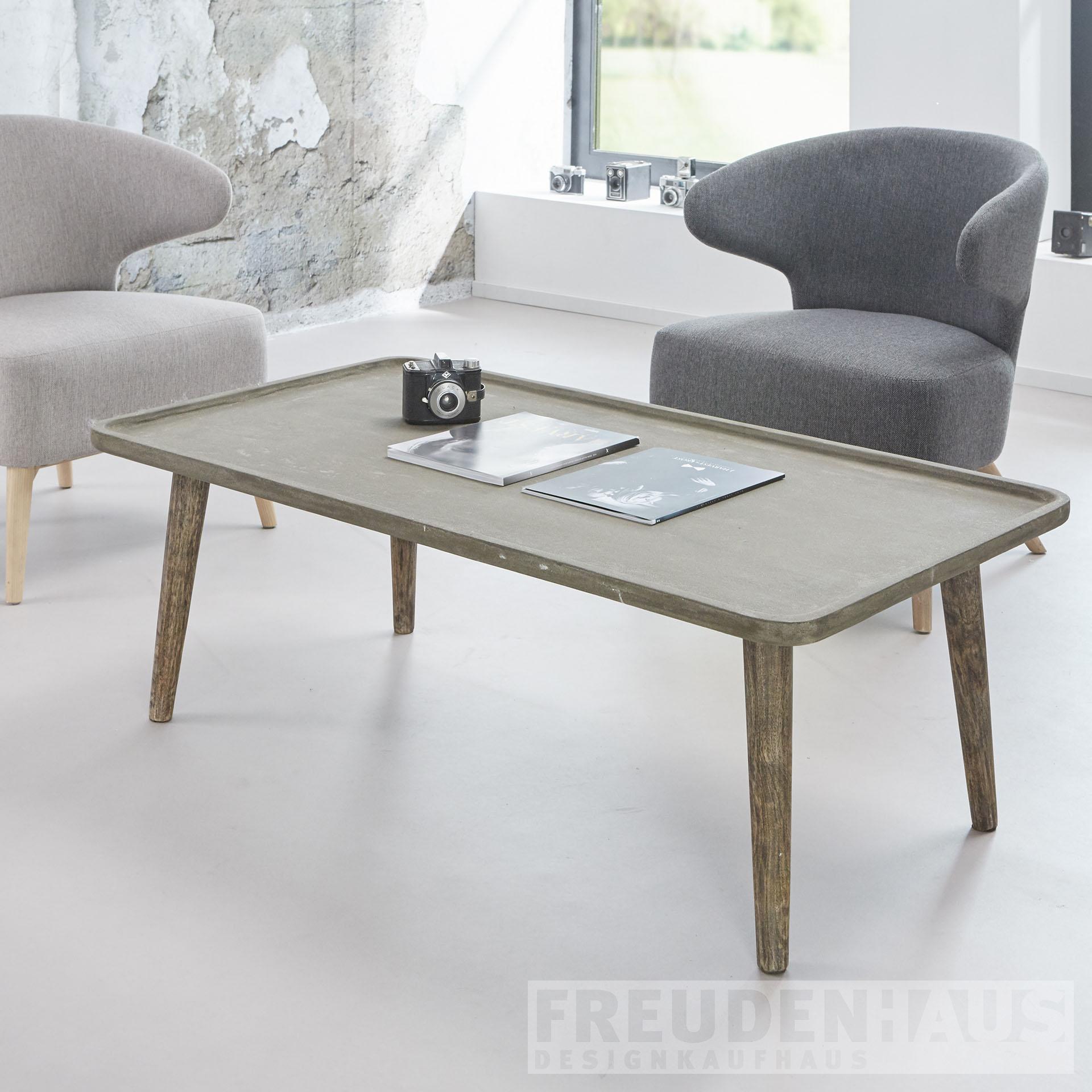 retro couchtisch stuco betonoptik 120 60 m bel wohnen couchtische freudenhaus designkaufhaus. Black Bedroom Furniture Sets. Home Design Ideas